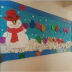 snowan-bulletin-board-idea | Crafts and Worksheets for Preschool,Toddler and Kindergarten