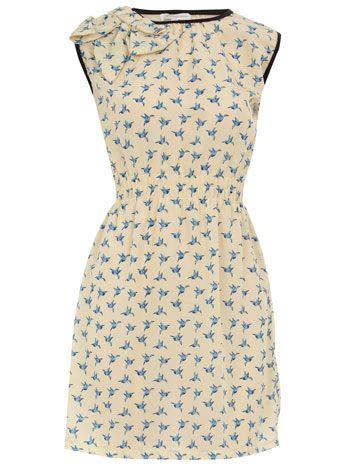 Dorothy Perkins  Cream bird bow shoulder dress: Bows Shoulder, Birds Prints, Birds Bows, Cream Birds, Perkins Cream, Bows Dresses, Cream Dresses, Dorothy Perkins, Shoulder Dresses