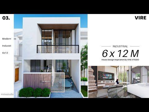 desain rumah 6x12 industrial modern. 2 lantai - youtube di