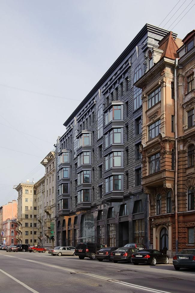 Apartment complex in Tverskaya Street - Moscow, RUSSIA.