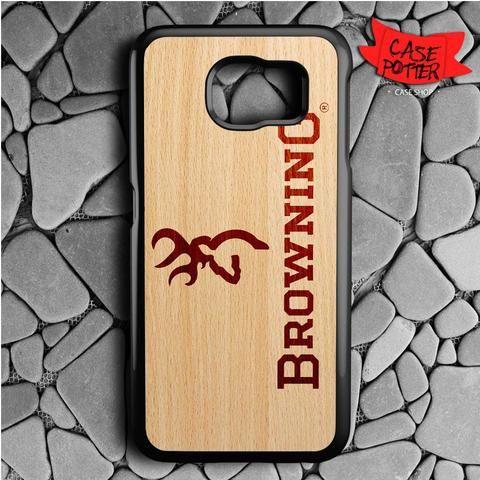 Browning Deer Wood Texture Samsung Galaxy S6 Black Case