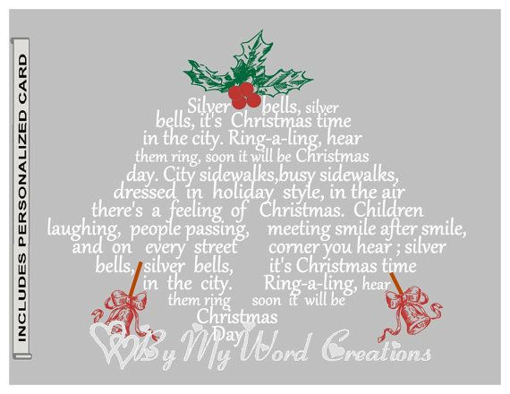 23 best christmas word art images on Pinterest Word art - christmas card word