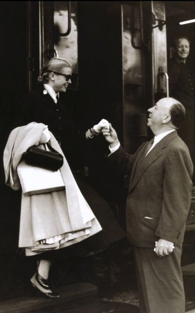 Grace Kelly and Alfred Hitchcock