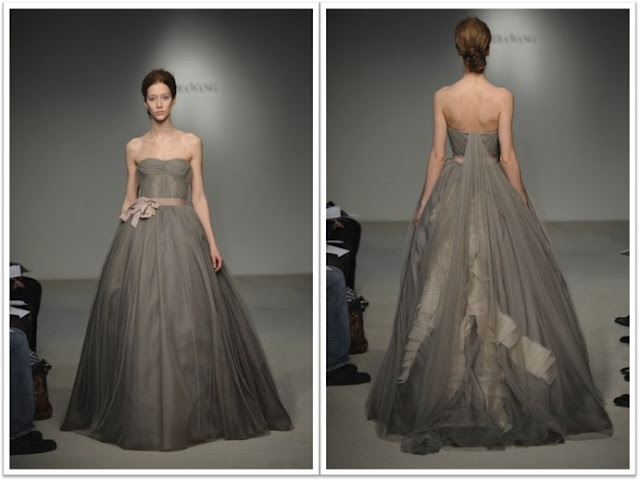 119 best taupe wedding greige wedding images on for Vera wang gray wedding dress
