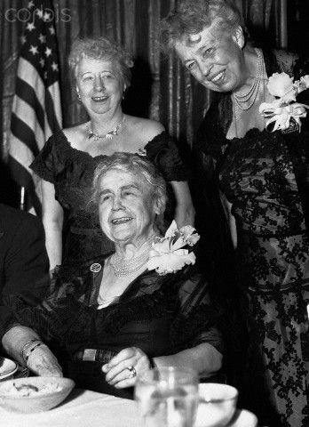 Former First Ladies Edith Wilson, Eleanor Roosevelt and Bess Truman headlined a 1950s Democratic Party fundraiser.
