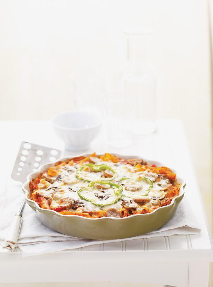 Recette de Ricardo: Pennes pizza. Une recette délicieuse à prévoir dans votre menu de la semaine. De bonnes pâtes alimentaires aux allures de pizza. 4 à 6 portions.