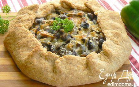 пшенично-ржаная галета с опятами | Кулинарные рецепты от «Едим дома!»