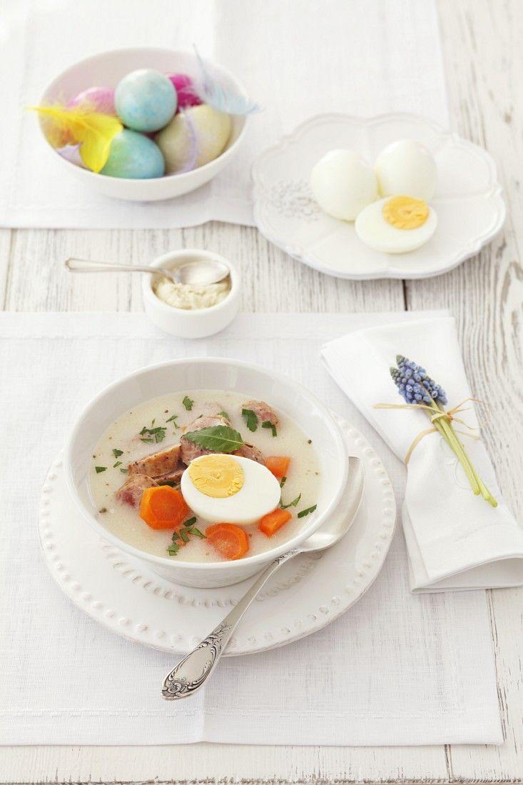 Suppe zu Ostern mit Ei | Zeit: 20 Min. | http://eatsmarter.de/rezepte/suppe-zu-ostern-mit-ei