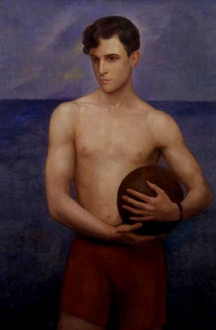 Angel Zarraga (1886 - 1946) Portrait of Ramon Novarro