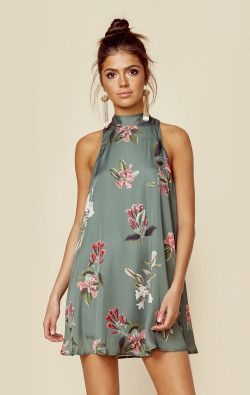 Show Me Your Mumu Clothing V-right Back Mini Dress