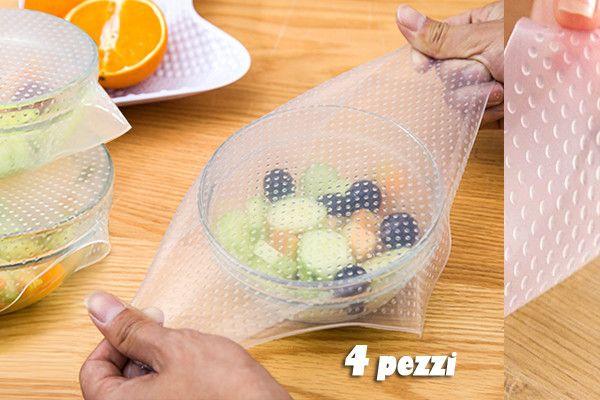 Coperchi elastici per alimenti