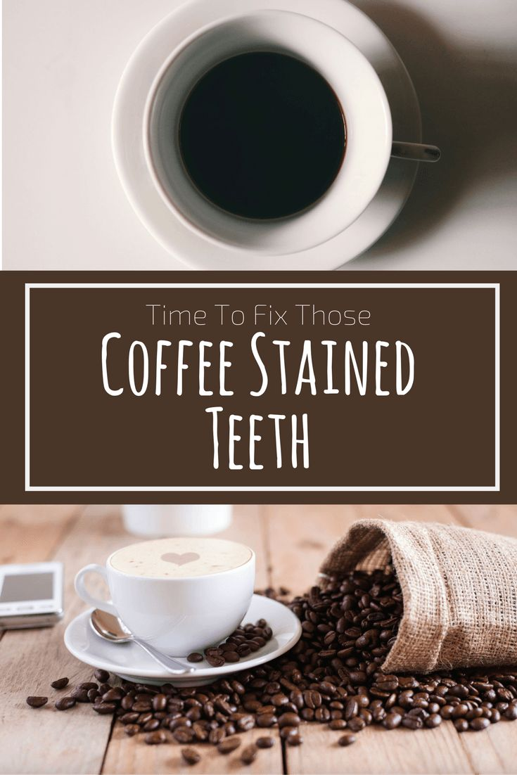 how to clean stained teeth from coffee
