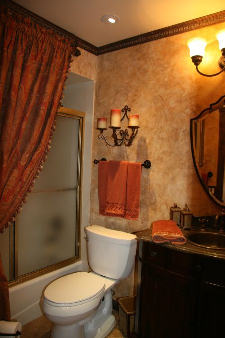 old world tuscan bathrooms | Old World styled bathroom, I have a very, very small bathroom. I again ...