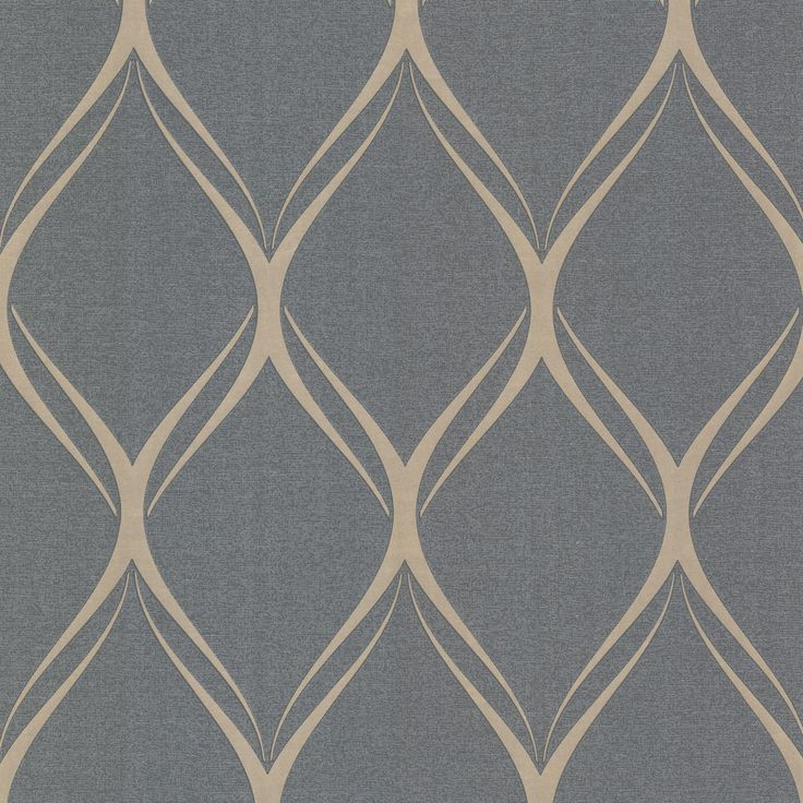 "Platinum Gustav 33' x 20.5"" Geometric Wallpaper"