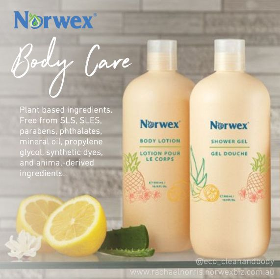 The Norwex Shower Gel and Body Lotion contain no nasty chemicals that are found in most other common body products. Not only that, they are nourishing, moisturising and gentle enough for the whole family. Norwex Australia and New Zealand - Chemical free body products
