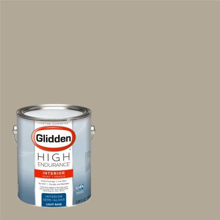 Glidden High Endurance, Interior Paint and Primer, Potter's Clay Beige, #40YY 38/107, Semi-Gloss, 1 Gallon, Brown