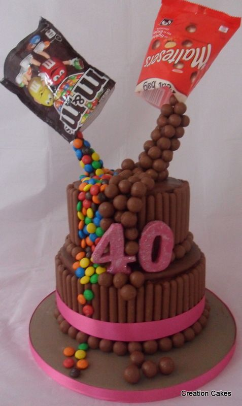 Chocolate Gravity Cake For A Special 40th Birthday