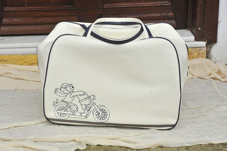 Τσάντα με βέσπα τύπωμα