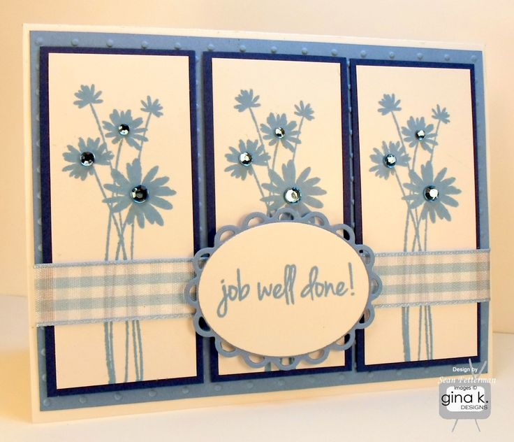 Ordinary Card Making Ideas Gina K Part - 11: Job Well Done Card Made For The Saturday Chat Challenge On StampTV Made  With The Gina K.