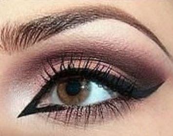 maquillaje en ojos con sombras fucsia y marrn como pintar mis ojos con sombras fucsia y marrn paso - Como Pintarse Los Ojos Paso A Paso