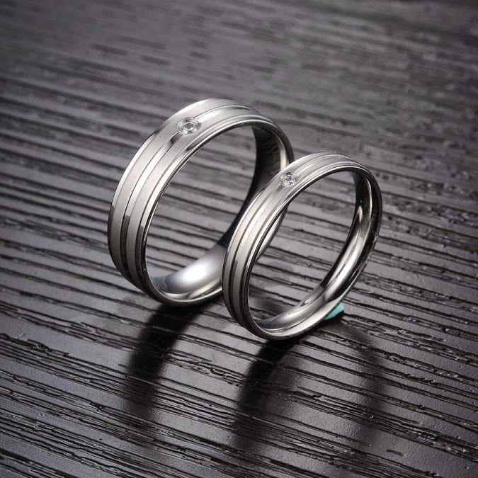 Cincin couple titanium R269 murah