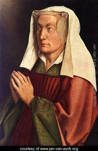 The Ghent Altarpiece- The Donors Wife (detail) 1432 - Jan Van Eyck - www.jan-van-eyck.org