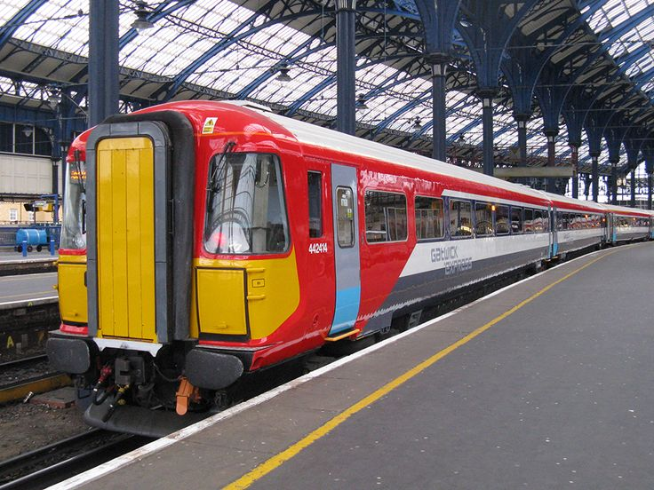 Gatwick Express Class 442 third-rail electric multiple-units in London