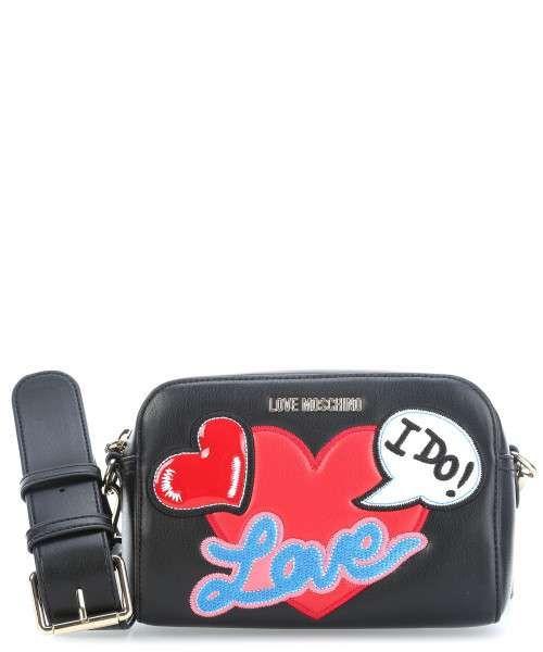 902125ee29a Love Moschino Patches Schoudertas zwart-JC4111PP15LT0-000-32 ...