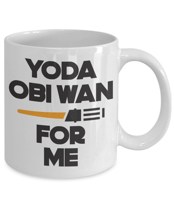 Yoda Obi Wan For Me Fun Coffee Mug. This Star Wars Inspired Tea Cup Makes An Awesome Gift For Couples, Lovers, Family Or Friends. A Great Birthday, Valentine's Day, Christmas or Anniversary Present. For more funny gift ideas, visit RixionGear. SHOP NOW!