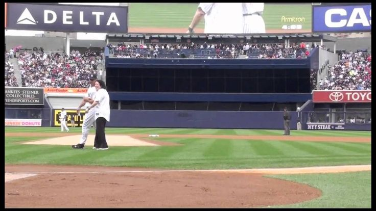 Sonia Sotomayor's First Pitch at Yankee Stadium!
