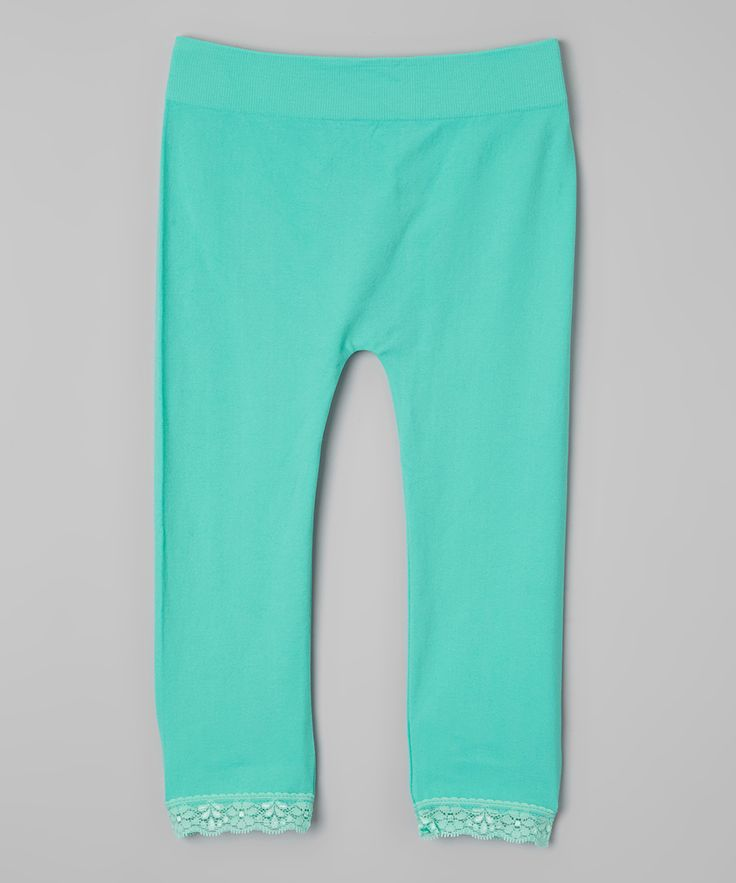 Mint Capri Leggings - Girls
