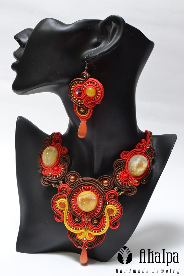 Red Sky Soutache Jewelry