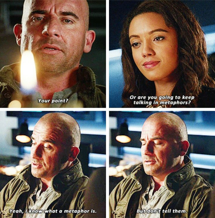 """I know what a metaphor is, but don't tell them"" - Mick and Amaya #LegendsOfTomorrow"