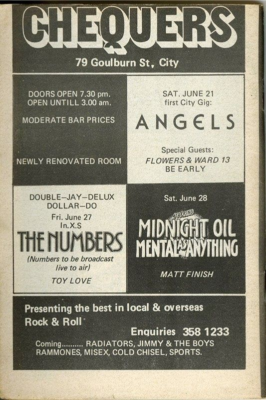 1980's Sydney Gig Posters