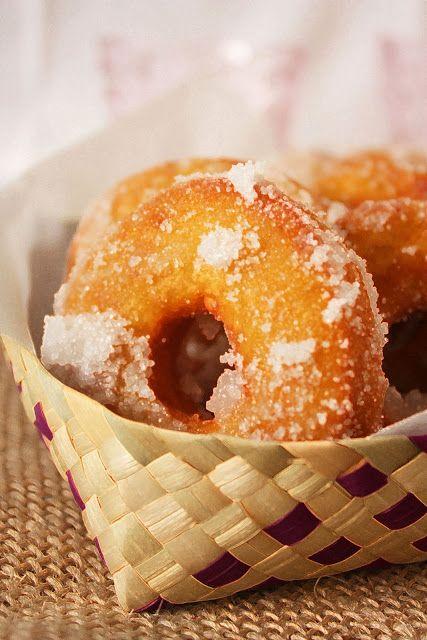 Malaysian Sweet Potato Doughnuts - Kuih Keria
