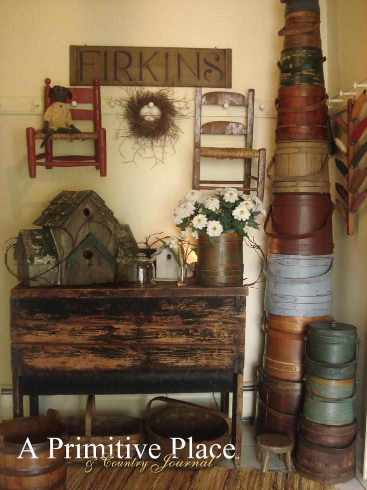 Primitive americana decorating ideas rustic colonial style decorating ideas    OMG love all the firkins 139 best Primitive Americana   living room ideas images on  . Primitive Decorating Ideas For Living Room. Home Design Ideas