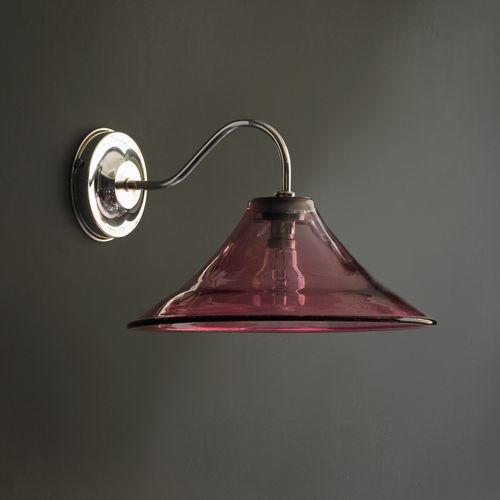 Bonnie wall light in magenta