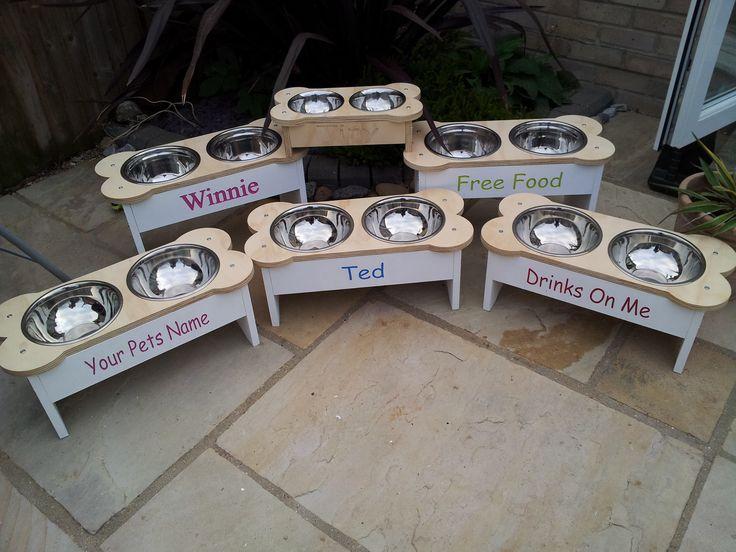 Dog bowl design raised dog bowls #bespokediningfordogs