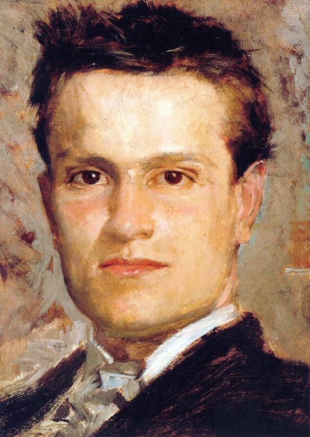 Youthful Self-Portrait Giovanni Boldini - circa 1865