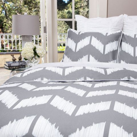 LOVING the new chevron pattern available in gray or purple from Crane & Canopy. Great site for designer bedding. They use the best fabrics and their prices are incredible!