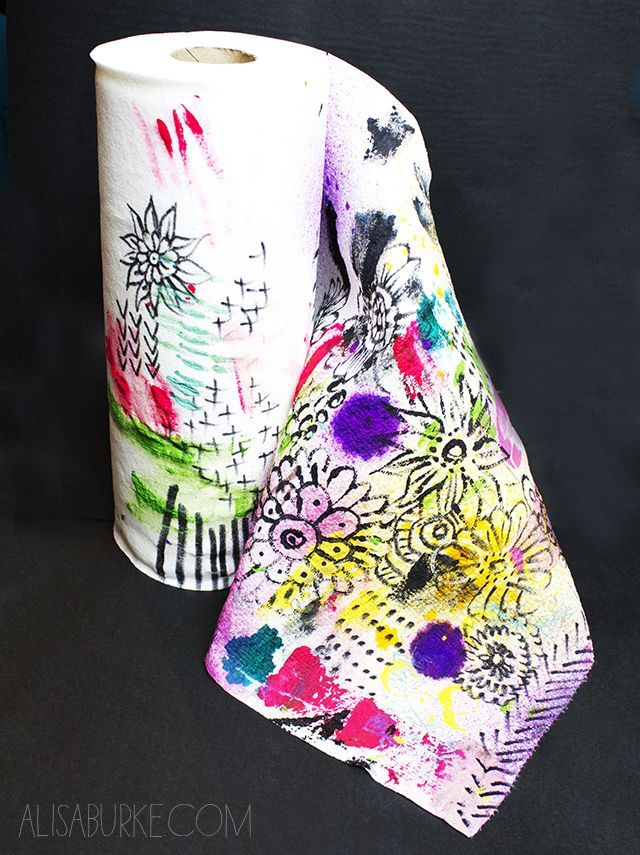 getting creative with paper towels (via Bloglovin.com )