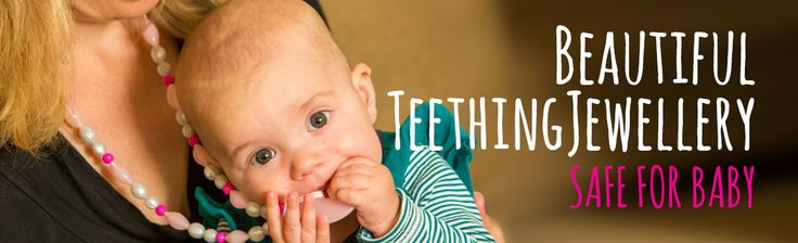 Teething Bling teething jewellery. Online Australian store. High quality, 100% silicone and BPA free. Safe for chewing!