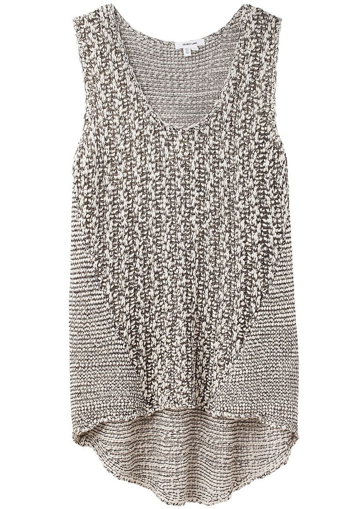 Inspiration - Helmut Lang, drop hem tank ...could be knit with cotton made bigger to wear over white cotton t-shirt