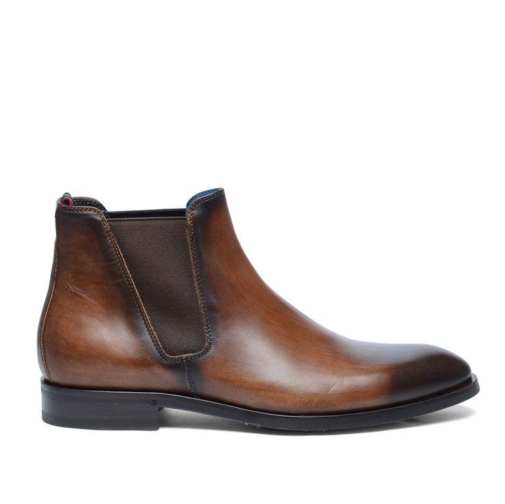 Giorgio Azzurro Chelsea boots cognac