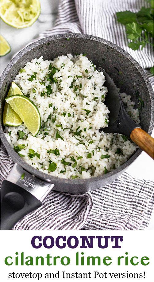 Coconut Cilantro Lime Rice