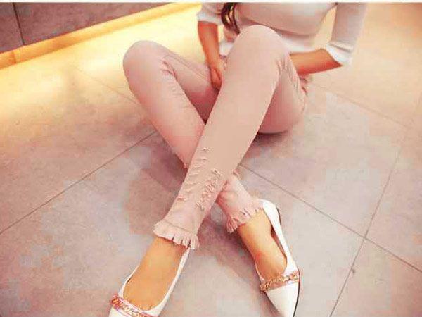 Fashion Celana Panjang Wanita Import Bahan Katun Stretch B2911