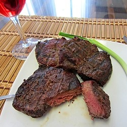 Venison seasoned just right and grilled to perfection!