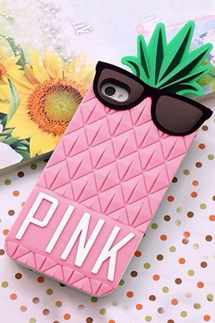 Pink pine Apple phone case cool pretty nice lovely delightful PINK !