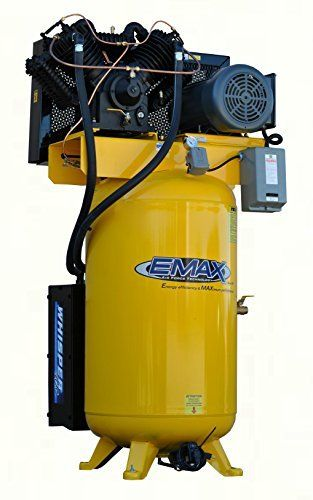 #airtoolsdepot EMAX Compressor ESP07V080V1 Industrial Plus 7.5 hp 1 PH gallon Vertical Air Compressor with Silencer, Large, Yellow by Emax…