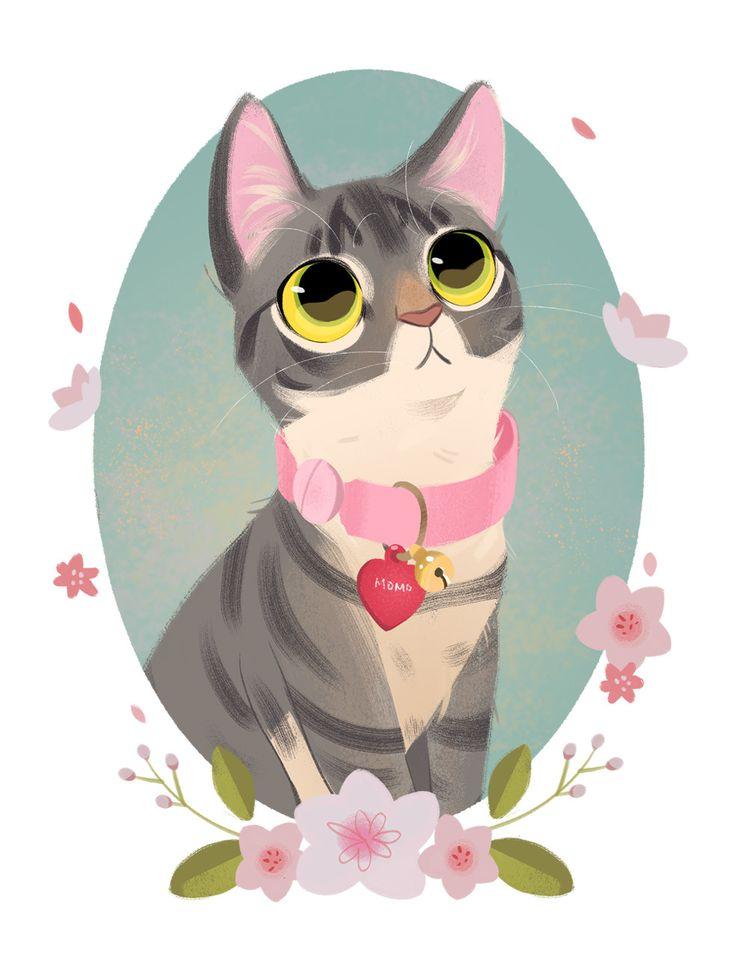 Рисунки стильные кошки